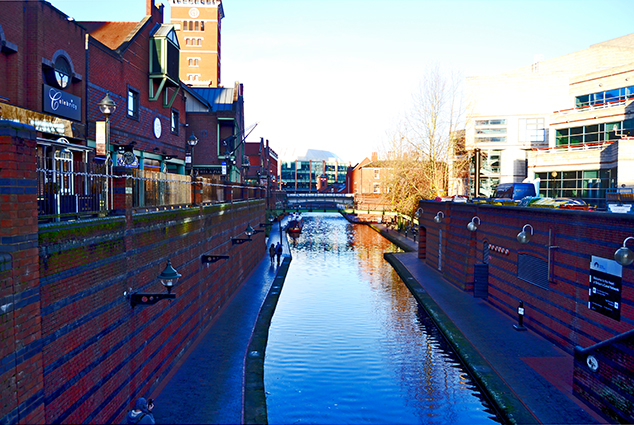 Canal navegable Gas Street Basin Birmingham