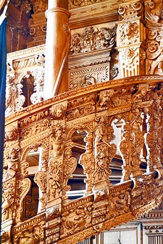 Detalle relieve escalera barroco ayuntamiento Bremen