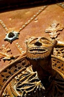 Detalle rostro gárgola Catedral Santa Tecla Tarragona
