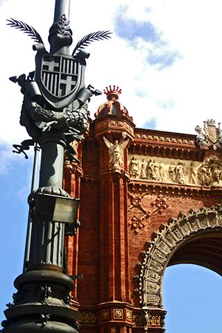 Escudo Arco de triunfo Passeig Sant Joan Barcelona