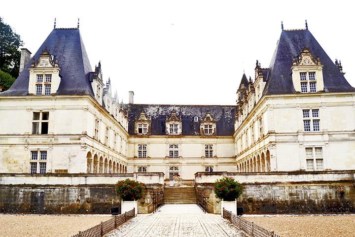 Fachada frontal Castillo y jardines de Villandry Francia