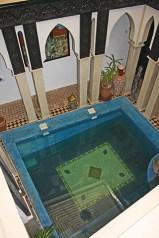 Foto picado piscina patio interior Ryad Laarouss Marrakech