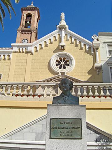 Busto mujer fachada Iglesia calle San Diego Cartagena