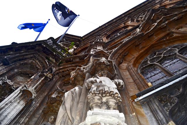 Foto contrapicado ayuntamiento Gante