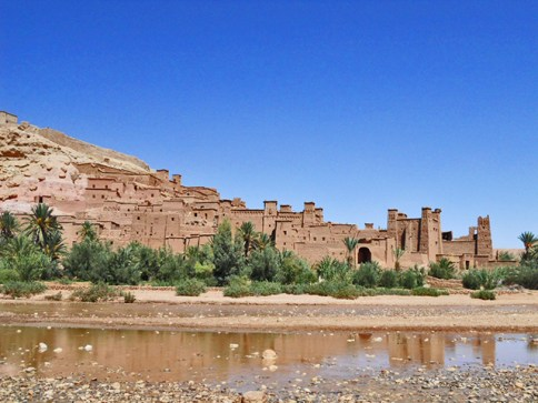 Panorámica Kasbah Ait Ben Haddou río Ouarzazate MArruecos