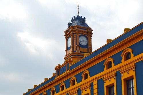 Torre reloj Museo Industria fachada colores Portugalete País Vasco