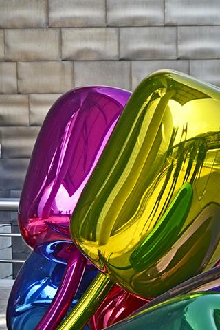 Tulipanes colores Jeff Koons escultura Museo Guggenheim Bilbao