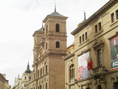 La Barroca Iglesia de Santo Domingo del Siglo XVIII vista desde la Plaza del mismo nombre