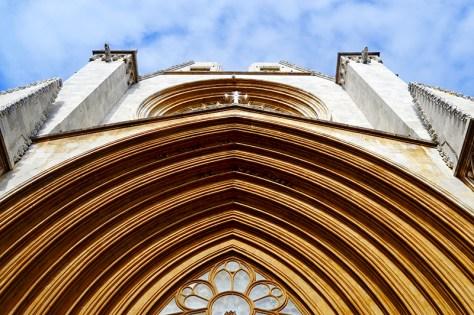 Picado fachada principal Catedral gótica Seu Catedral Santa Tecla Tarragona