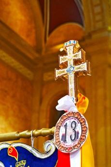 Doble cruz dorada Caravaca de la Cruz Murcia
