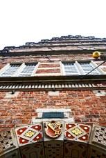 Escudos heráldicos decoración Art Nouveau Langenstrasse Bremen
