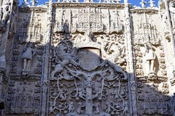 Relieves fachada Museo Nacional Colegio San Gregorio Valladolid
