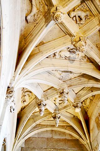 Decoración relieves piedra escalera interior castillo Azay Le Rideau