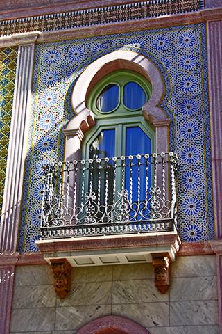 Ventana decoración musulmana Port Ortissos Elche