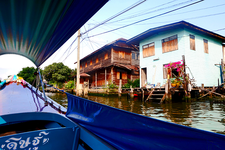 Long-tail boat klongs Bangkok