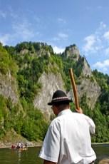 Balsero espalda descenso río Dunajec Polonia