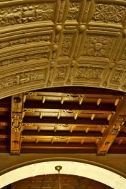Estuco techo interior Castillo Peles Sinaia