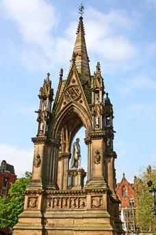 Escultura Albert Square centro Manchester