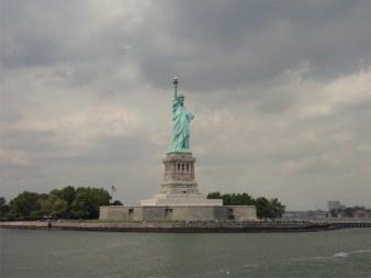 Miss Liberty in Liberty Island