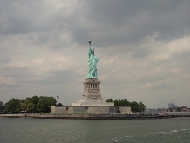 Miss Liberty in Liberty Island
