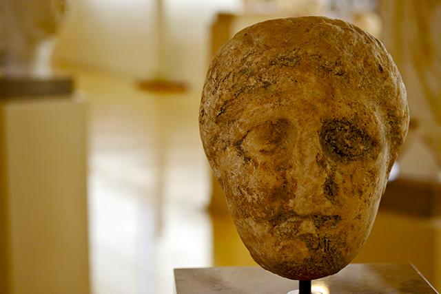 Rostro mujer romano escultura Museo Nacional Arqueológico Tarragona