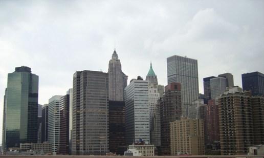 Skyline Nueva York puente Brooklyn