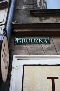 Placa calle Grodzka Cracovia