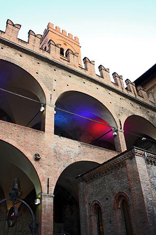 Interior Palazzo Podesta Piazza Maggiore Bolonia