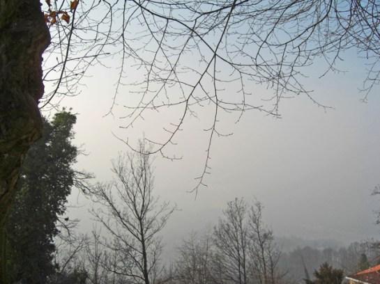 Vistas niebla Basilica Superga Turín