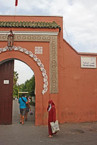 Puerta entrada Palacio Bahía Marrakech