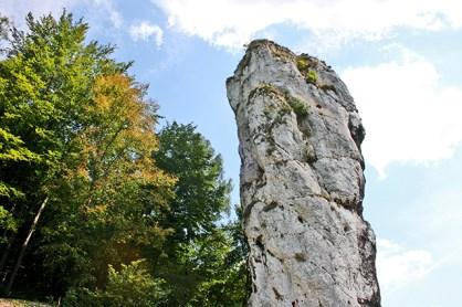 Garrote Hércules roca Parque Nacional Ojców Polonia