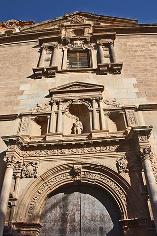 Fachada barroca Colegio Santo Domingo centro histórico Orihuela