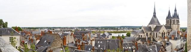 Panorámica desde castillo iglesia ciudad Blois Luis XII