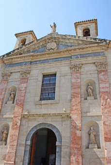 Fachada Real Monasterio Religiosas Salesas centro Orihuela Alicante