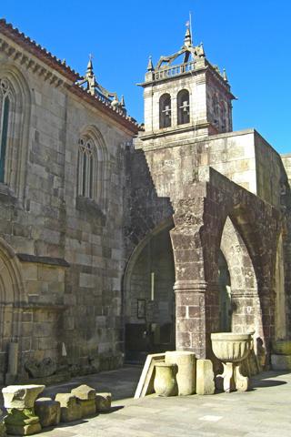 Restos arqueológicos Catedral Braga Portugal