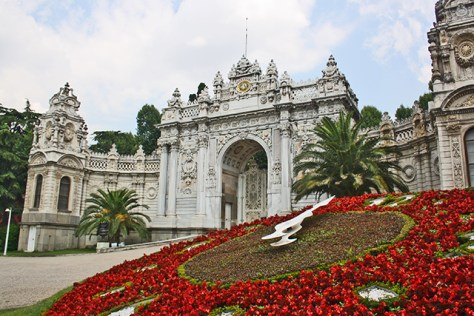 Entrada reloj flores Palacio Dolmabahce Estambul
