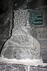 Busto rey Casimiro El Grande sal Minas sal Wieliczka Polonia