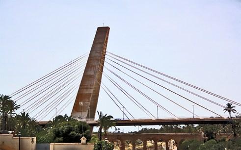 Puente Generalitat río Vinalopó Elche