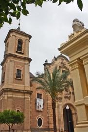 Salzillo ante la Iglesia de Santa Eulalia