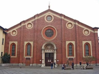 Fachada Santa Maria delle Grazie Última Cena Leonardo Milán