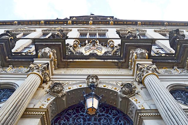 Picado fachada decoración Barroco banco centro histórico Marktplatz Bremen