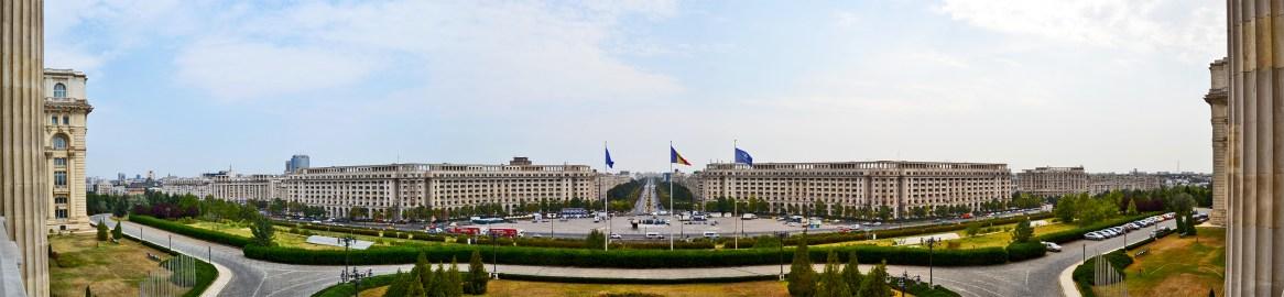 Bucarest panorámica Parlamento