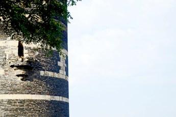 Detalle torre circular castillo Angers