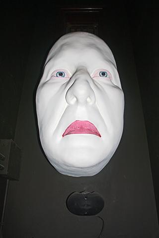 Rostro máscara blanca susto Museo cera Dublín