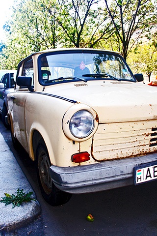 Coche soviético Andrassy Ut Budapest