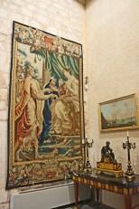 Tapiz real sala decoración barroca Palacio Almudaina Palma Mallorca