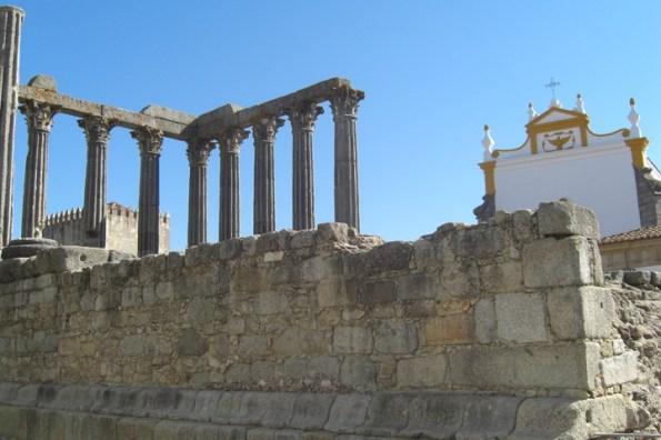 Templo romano Évora Portugal