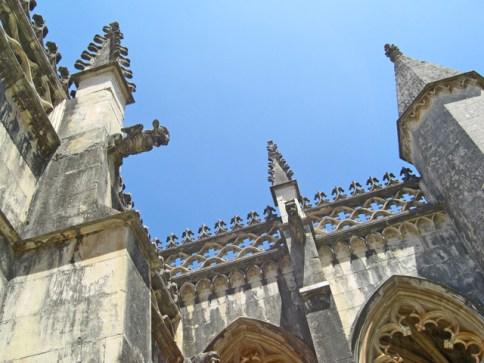 Gárgolas y arbotantes estilo manuelino Monasterio de Batalha