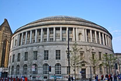 Librería Central edificio circular calle St Peters Manchester