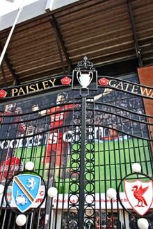 Valla entrada Paisley Gateway Anfield Road Liverpool